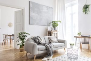 a living room that's painted white